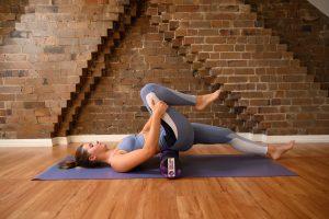 hip fleor stretch with a roller