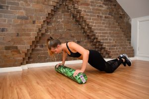 roller push up at knees