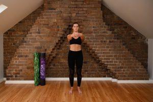 arm elevation in basic warm up routine