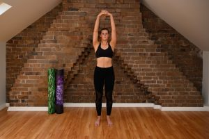 active arm elevation overhead in basic warm up routine