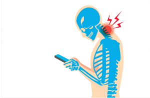 poor posture associated with neck pain